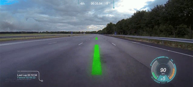 Jaguar designs windscreen that turns real racing into cool videogame