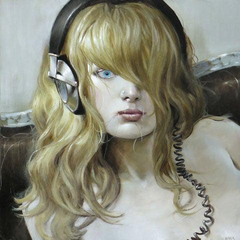 Beautiful Women and Headphones: Oil Paintings by Jonathan Viner (NSFW)