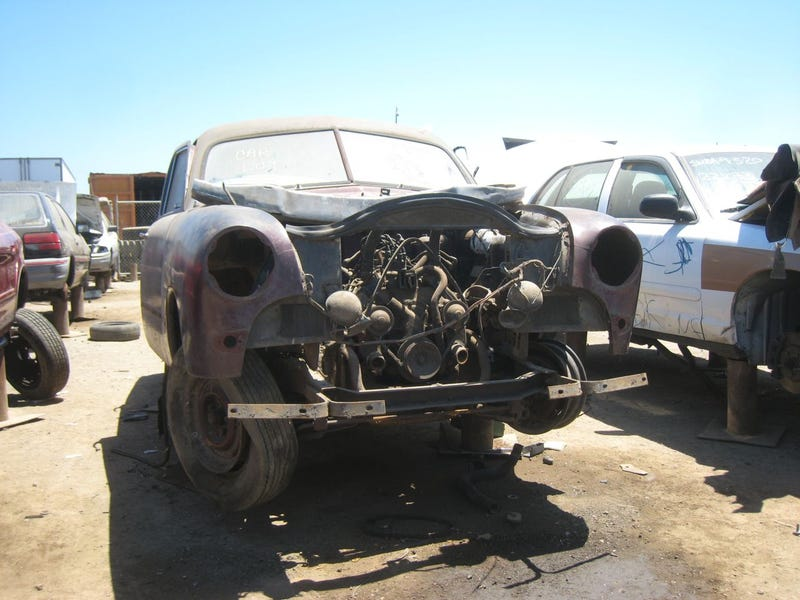 1949 Ford Takes Wrong Turn, Ends Up In The Crusher's Waiting Room