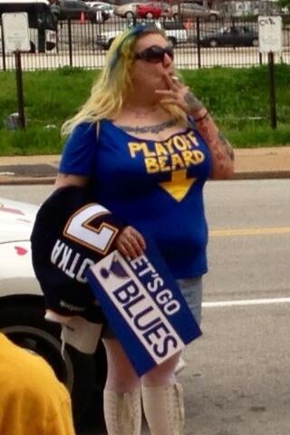 This Blues Fan Is Growing The Worst Playoff Beard Ever