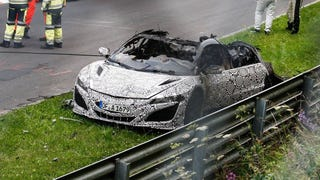 The New NSX Just Burned To The Ground At The Nürburgring