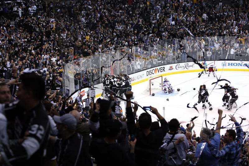 The Kings Celebrate Stanley Cup Win Next To Devastated Henrik Lundqvist