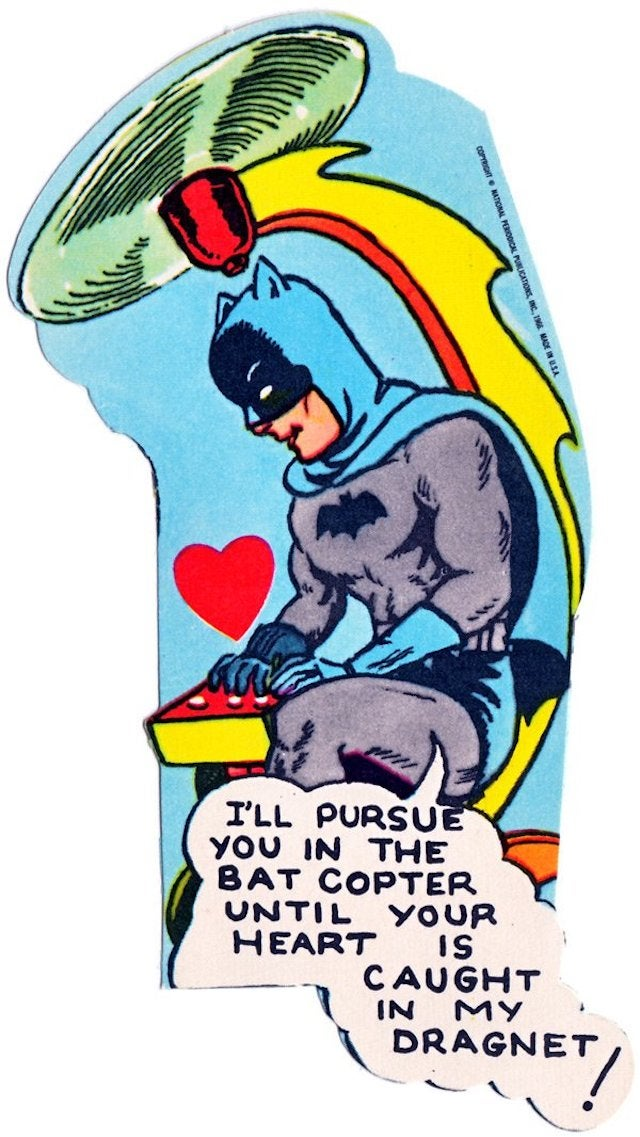 These 1966 Batman valentines are romantically insane