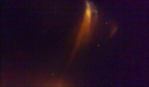 A UFO On Fire Over Eureka, California
