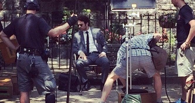 First Picture Of Matt Murdock On The Daredevil Set