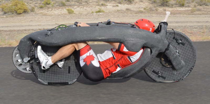 This Bullet-Shaped Bike Just Set a Human-Powered Speed Record