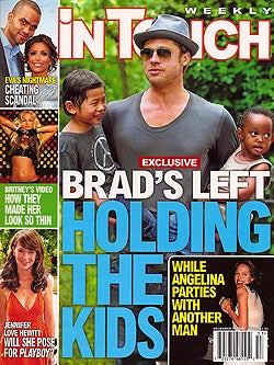 This Week In Tabloids: Jamie Lynn Is With Child, Brad's A Babysitter, Brit's Tots Inhale