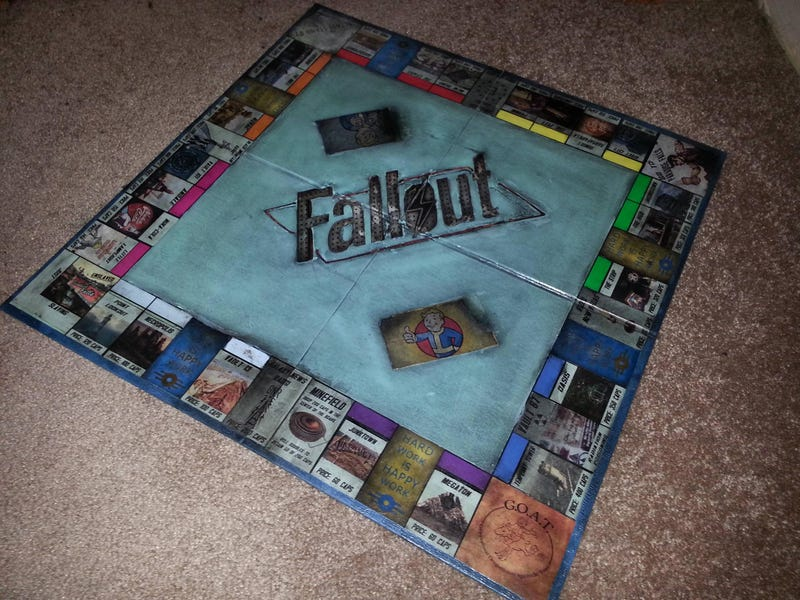 How Sweet, This Husband Gave His Wife A Handmade Fallout Monopoly Set