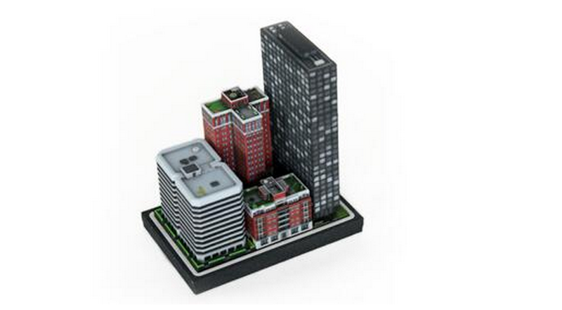 3D-Printed Miniature Buildings Let You Play Sim City Offline