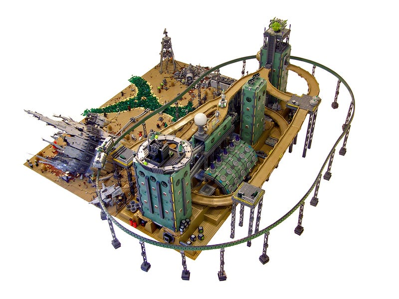 In this post-apocalyptic diorama, Hell comes to Lego Land
