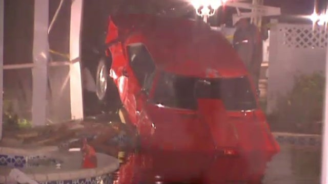 See What Happens When A 1967 Camaro Crashes Into A Swimming Pool