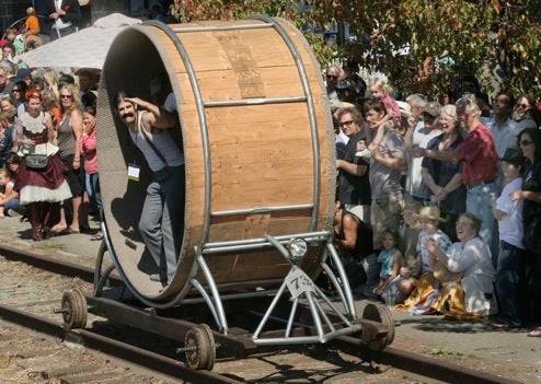 'Handcar Regatta' Rail Race Is a Terrifying Steampunk Orgy
