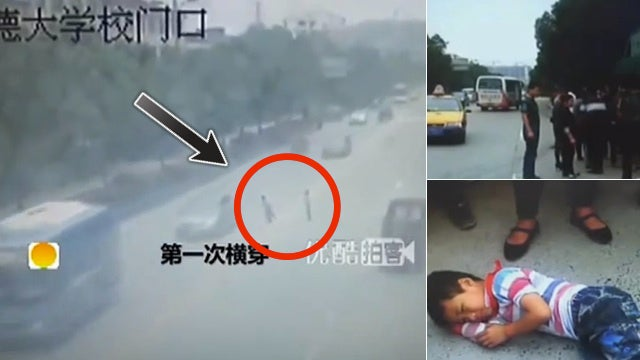 Dangerous Game of Real-Life Frogger Almost Ends in Tragedy