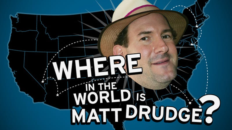 Where In the World is Matt Drudge? A Racist's 2013 Travelogue