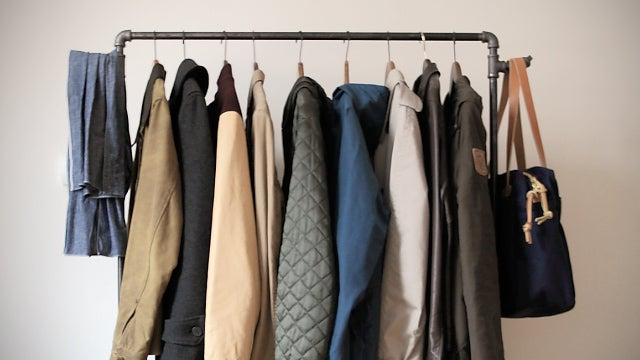 Make Your Own Industrial-Style Clothing Rack