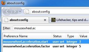 Enable Firefox's Secret Mousewheel Scrolling Acceleration