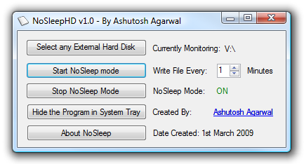 Stop External Drives From Spinning Down With NoSleepHD
