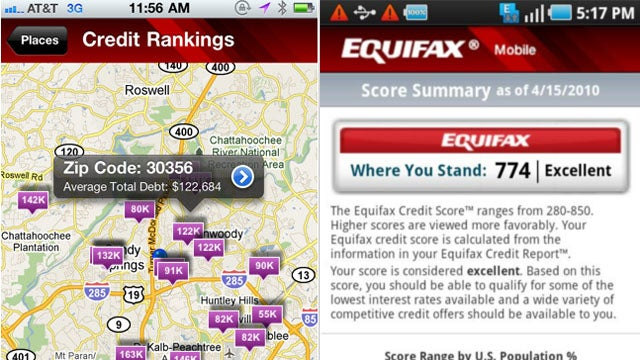 Equifax Mobile Gives You a Window into Your Neighborhood's Finances