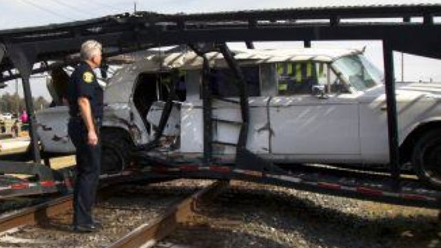 A Train Hit A Truck And Made A Rolls Royce Sandwich