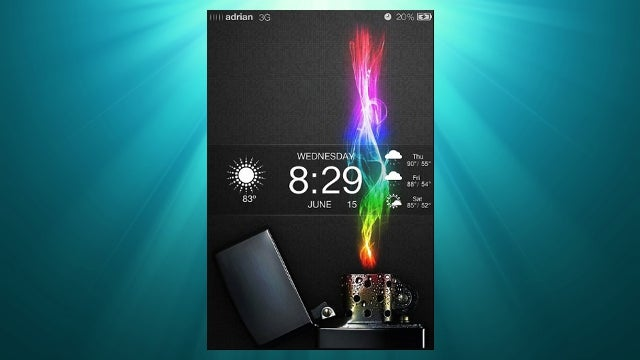 The Rainbow Lighter Home Screen