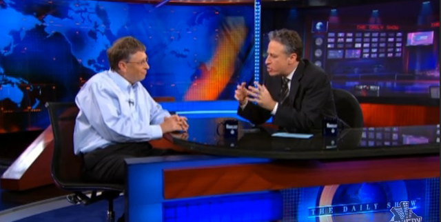 Jon Stewart Fans the Flames of the Apple/Microsoft War by Provoking Bill Gates