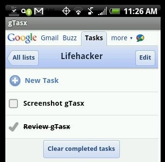 GTasx Is a Simple Google Tasks Interface for Android