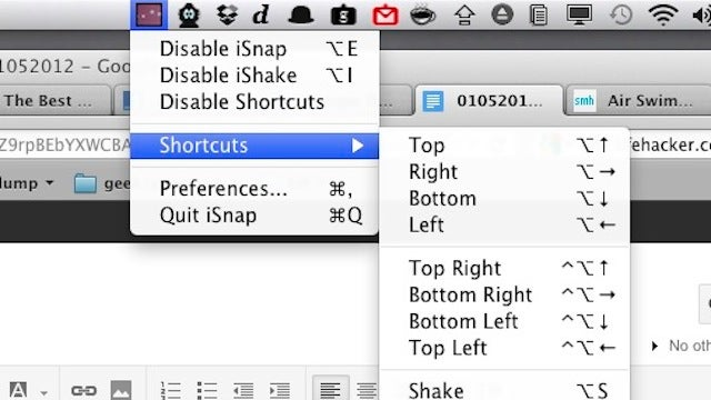 iSnap Brings Aero Snap and Shake to Minimize to the Mac