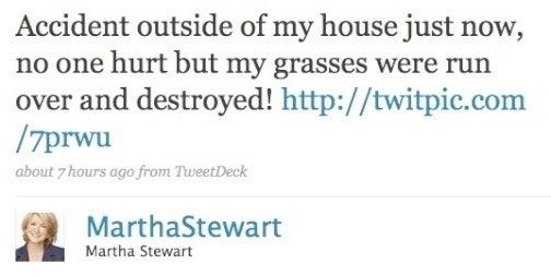 Martha Stewart Shaken: Truck Crash Ruins Perfect Lawn