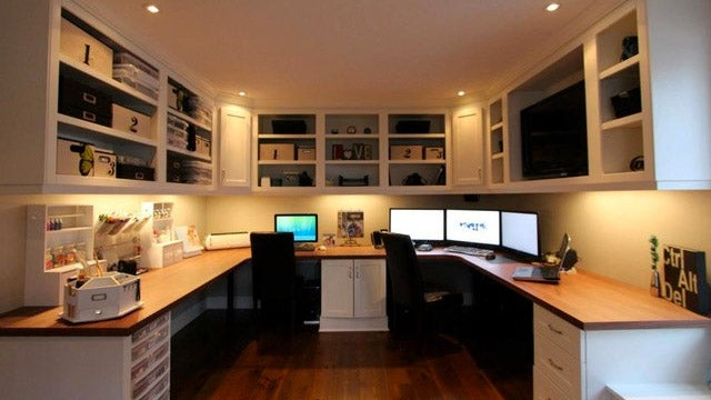 The Custom Cabinets Workspace for Two