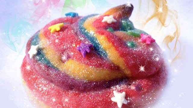 Make your own disco-sparkly unicorn poop cookies