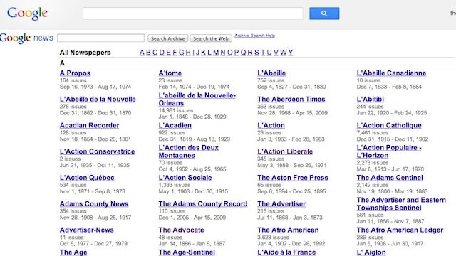 Google Redesigns News Archive, Makes Searching Through Newspapers Easy