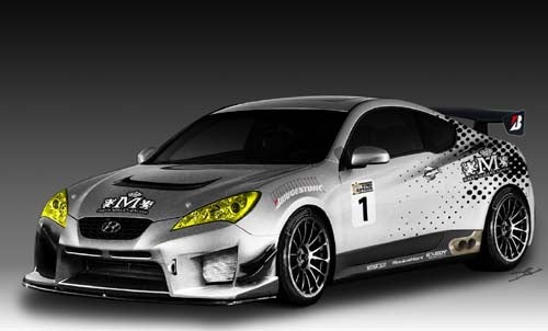 Rhys Millen-Tuned Hyundai Genesis Coupe Racer To Debut At 2008 SEMA Show