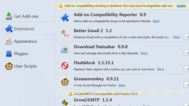 Add-On Recovery Tool Restores Missing Add-Ons in Firefox 7