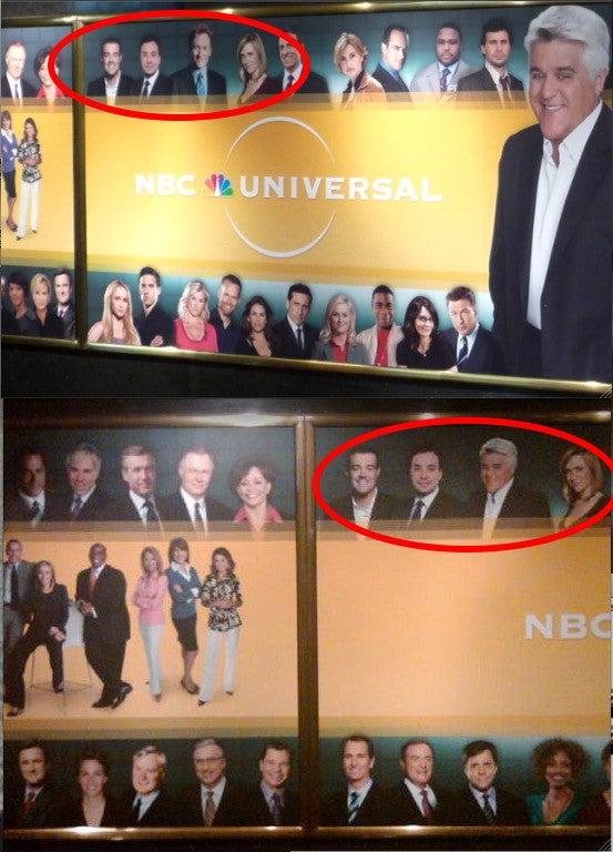 Leno Also Replaces Conan on NBC's 30 Rock Mural