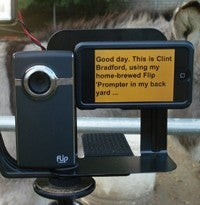 Turn an iPhone into a Portable and Compact Teleprompter