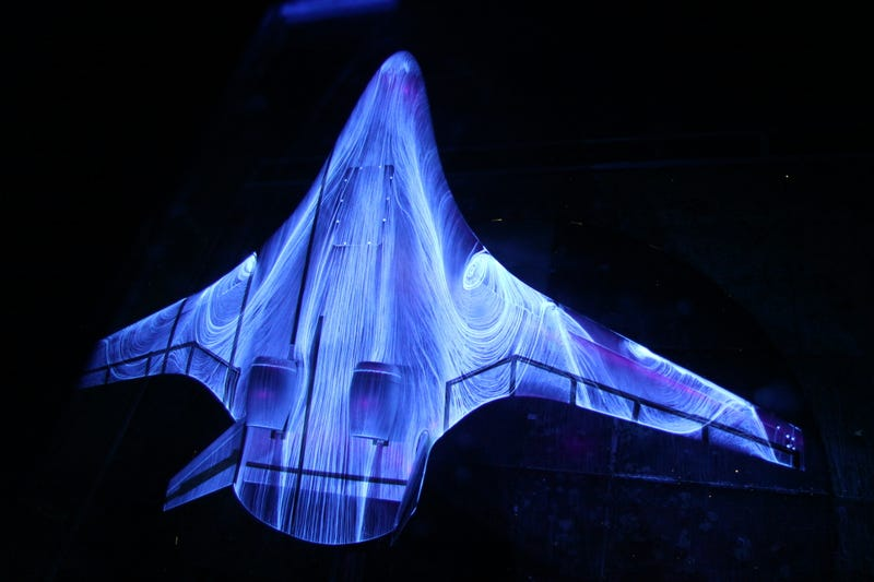 This NASA wind tunnel test is absolutely gorgeous