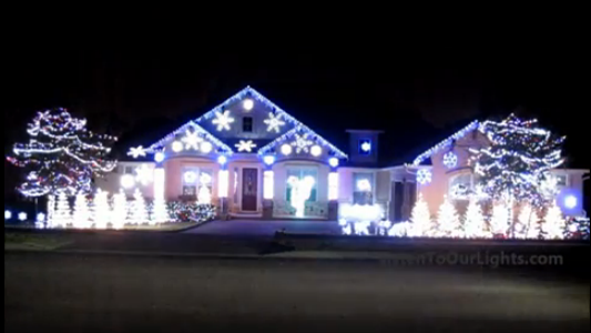 This Spectacular Dancing Christmas Light Display Honors Katy Perry