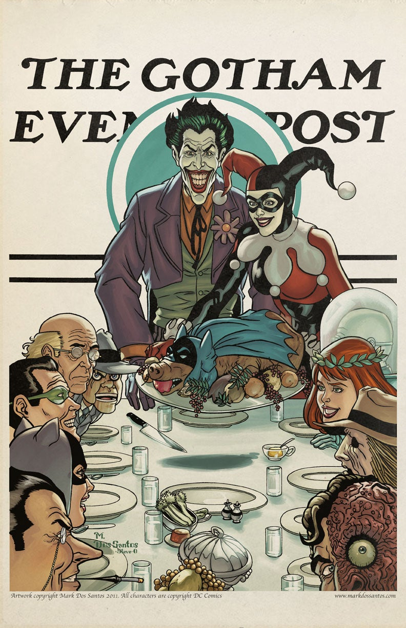 What if Norman Rockwell illustrated scenes of Gotham City life?