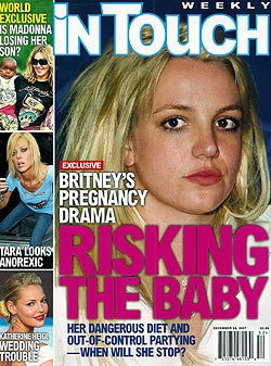 This Week In Tabloids: Preggers Britney Plans To Elope; Angie & Brad Are Couple Of The Year
