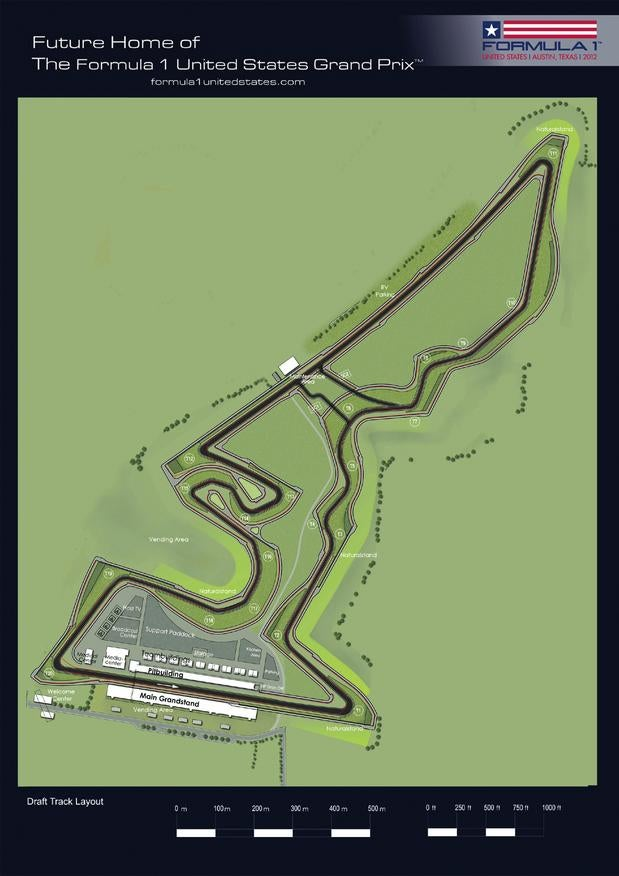 This Is Austin's Bong-Shaped U.S. Grand Prix Formula 1 Track