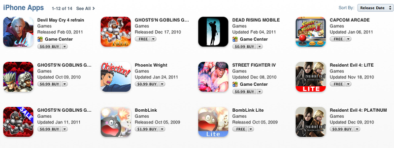 Capcom's iTunes Fire Sale