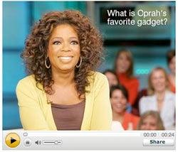 Oprah's Favorite Gadget is the Kindle, In Case You Were Wondering