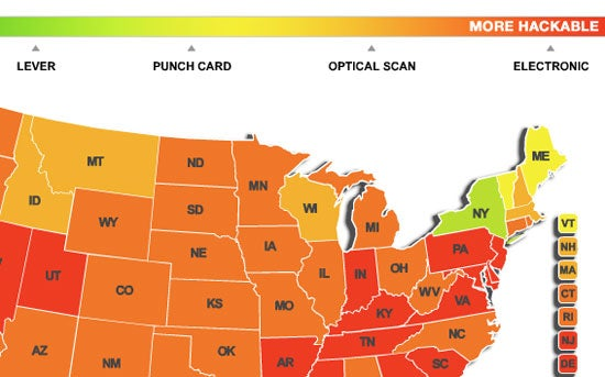 Dvice's Voting Machines Map Shows Us Just Where the Election Will Be Stolen