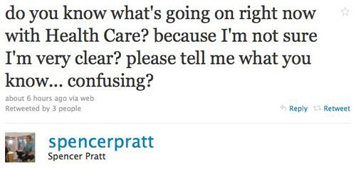Spencer Pratt Is Confused About The Health Care Debate