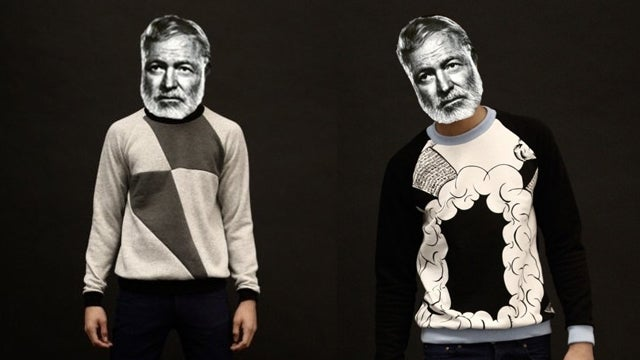 Ernest Hemingway Models Etsy Sweaters