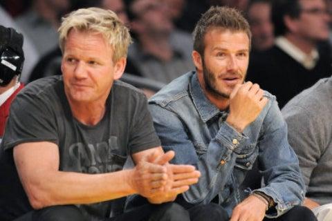 "David Beckham And Gordon Ramsey ""Caught In Gunfight"""