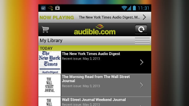 Audible Newspapers, Yahoo Weather, and Yard Lights