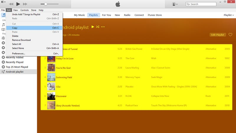 how to add music from itune on android device