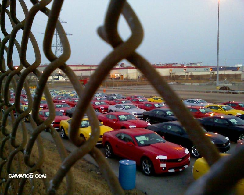 Hundreds Of 2010 Camaros Spotted Outside Oshawa Assembly Plant