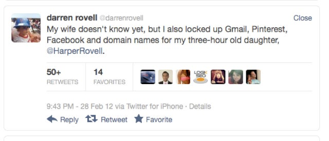 Darren Rovell Wasn't On Twitter Earlier Today Because His Wife Delivered A Baby Girl Who Already Has A Twitter Account
